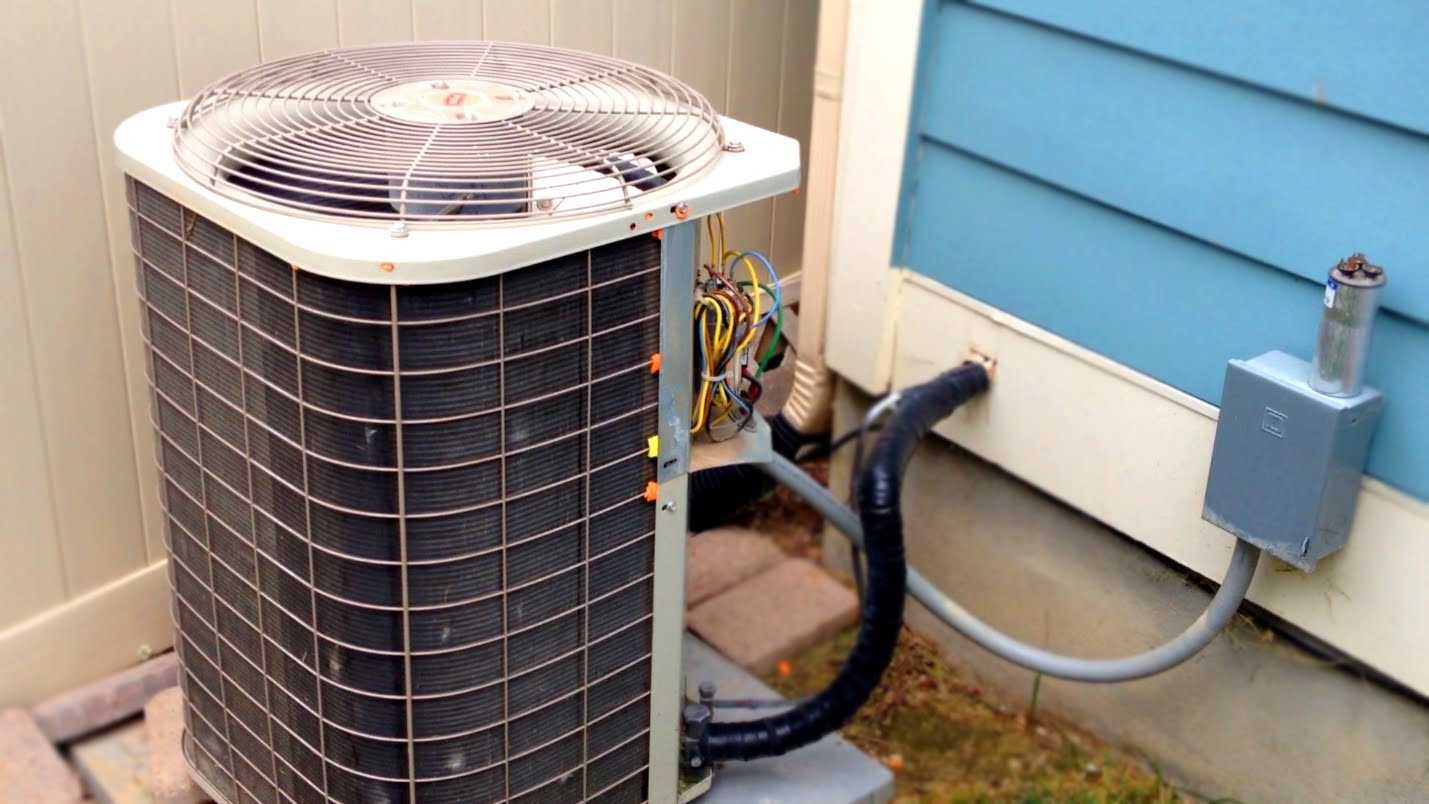 an outside condenser unit